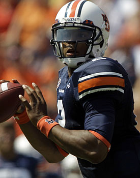 With gaudy stats, Cameron Newton is thriving in Guz Malzahn's offense. (US Presswire)