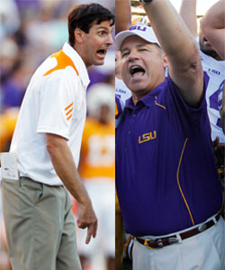 Derek Dooley (left) got the short end of the poor coaching decisions last Sat. (AP)