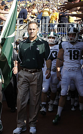 'We weren't going to play things close to the vest,' Dantonio said of taking on Michigan. (Getty Images)