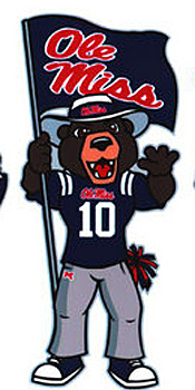The bear mascot was inspired by a William Faulkner story. (University of Mississippi)