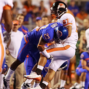 Wins over teams like Oregon State have Boise State flying high, but the Broncos' schedule goes south fast. (Getty Images)