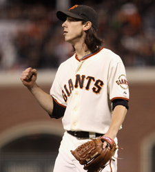 Tim Lincecum is coming off a two-hit, 14 K performance. (Getty Images)