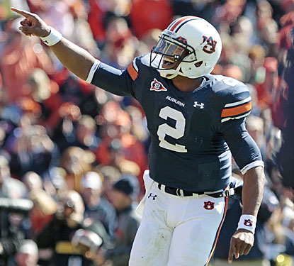 Cam Newton throws for a career-high 317 yards and four TDs as Auburn gets a one-week break from the SEC slog.  (AP)