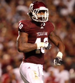 Texas A&M DE Von Miller is a defensive force when healthy. (US Presswire)