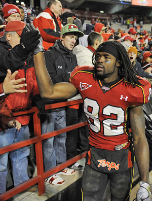 Torrey Smith was the go-to guy for Maryland in knocking N.C. State out of the ACC title game. (AP)