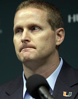 With each miscalculation, Kirby Hocutt lessens the odds Miami will find a good coach. (AP)