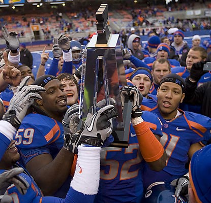The Broncos leave the WAC having won at least a share of eight of the last nine championships.  (AP)