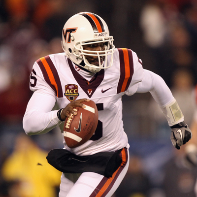 Tyrod Taylor's four TDs help lead Virginia Tech to its third ACC title in four years.  (Getty Images)