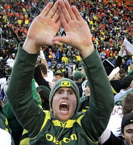 Without the BCS, Oregon would be playing the Rose Bowl and a split national title would loom over everything. (AP)