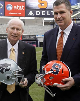 After all your complaining, you'll still watch the Pinstripe Bowl and the NCAA will still win. (AP)