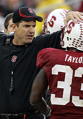 The top candidate for Michigan's head coaching job, Jim Harbaugh has yet to sign a contract extension with Stanford. (Getty Images)