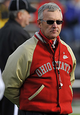 Tressel seems to be convincing himself of the ruling on suspensions. (Getty Images)