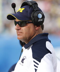 During his three-year tenure at Michigan, RichRod's record is 15 - 21. (Getty Images)