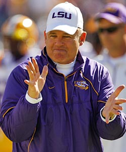 Les Miles and his Tigers have a lot of factors in their favor entering 2011. (Getty Images)