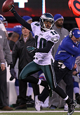 Philadelphia Eagles punt returner DeSean Jackson set a dubious example on Dec. 19, tip-toeing along the end zone before his TD. (Getty Images)