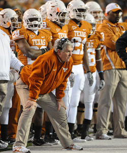 Mack Brown's Texas program is going to get a lot more exposure with it's own TV network. (US Presswire)