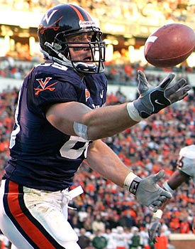 Before he won titles as a Steeler, Heath Miller starred in the ACC at Virginia. (Getty Images)