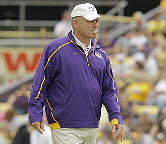 What will Les Miles have up his sleeve in LSU's spring game? (US Presswire)