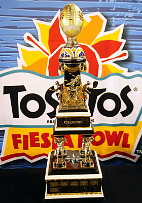 Fiesta Bowl CEO John Junker is on paid administrative leave amid a probe into alleged improper campaign contributions. (US Presswire)