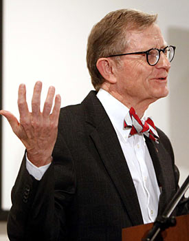 E. Gordon Gee knows better than to mess with the golden goose that is football at Ohio State. (AP)