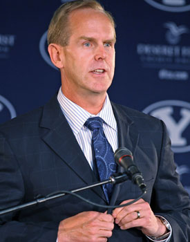 'We really want to make this work,' BYU AD Tom Holmoe says. (Getty Images)