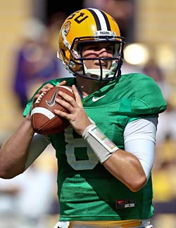 Keep an eye on Zach Mettenberger at LSU, who could give the offense a change of pace. (US Presswire)