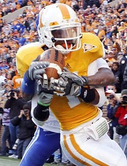 Justin Hunter could become a real force for the Vols receiving corps. (US Presswire)