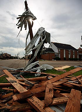 Tornadoes left swaths of Tuscaloosa and the South in ruins. (Getty Images)