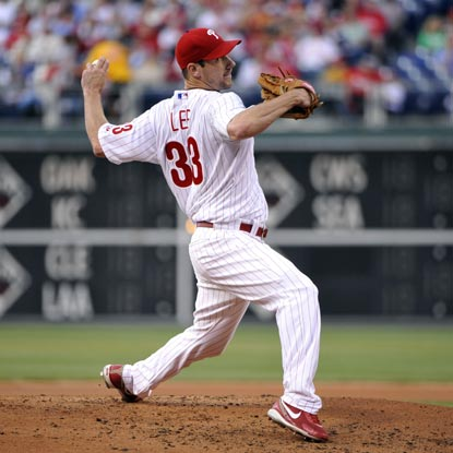 Cliff Lee's 16 K's are the most by any pitcher this season and one shy of the franchise record.   (US Presswire)