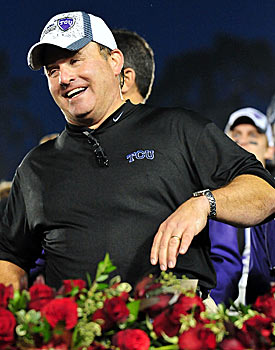 TCU coach Gary Patterson, who will be a Big East member in 2012, prefers a nine-member league. (US Presswire)