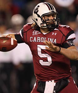 Garcia ranks third all-time in passing yards and TDs at South Carolina. (Getty Images)