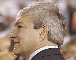 Penn State president Graham Spanier says cheating in college football is 'about as bad as it's been in the modern era.' (Getty Images)