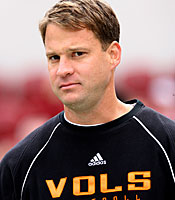 Years after leaving, Lane Kiffin remains a whipping boy in Knoxville. (US Presswire)