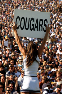 BYU fans will watch their team play a national schedule in 2011 -- including games against Ole Miss, Texas and UCF. (Getty Images)