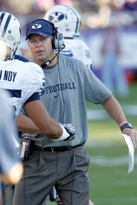 This fall Bronco Mendenhall enters his seventh season coaching BYU, with the team still seeking its first BCS bid. (Getty Images)