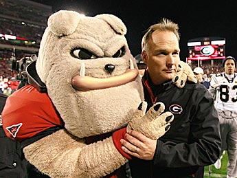 If Georgia stumbles in September, Mark Richt and the Bulldogs might have to part ways. (Getty Images)