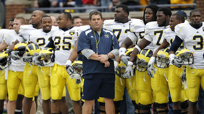 Brady Hoke can shut his eyes and hear whether or not his team has had a good practice. (Getty Images)