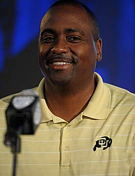 Jon Embree embraces the opportunity to return CU to its heyday. (US Presswire)