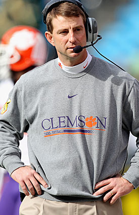 One of Dabo Swinney's nonconference slots is already filled by Clemson's annual rivalry game vs. South Carolina. (Getty Images)