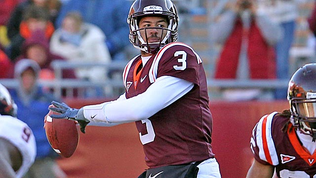 With Tyrod Taylor off to the NFL, Logan Thomas takes over under center for the Hokies. (US Presswire)