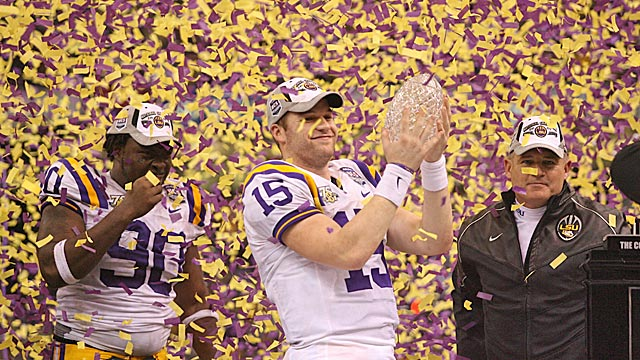 Les Miles' 2007 LSU team lost twice -- and still went on to claim the BCS title. (US Presswire)