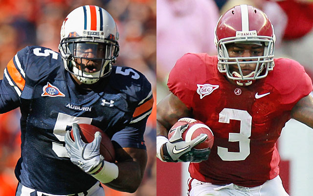 Michael Dyer and Trent Richardson will lead Auburn and Alabama into an emotional Iron Bowl. (Getty Images)
