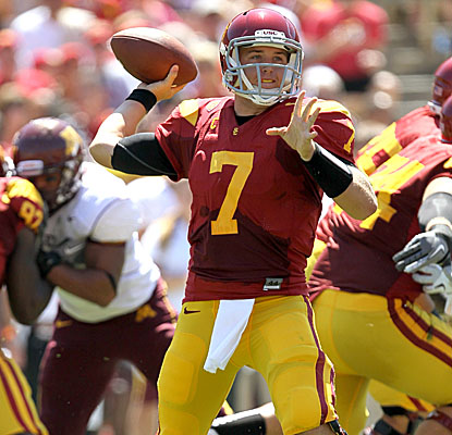 QB Matt Barkley throws for 304 yards on 34-of-45 passing, with three touchdowns vs. Minnesota. (Getty Images)