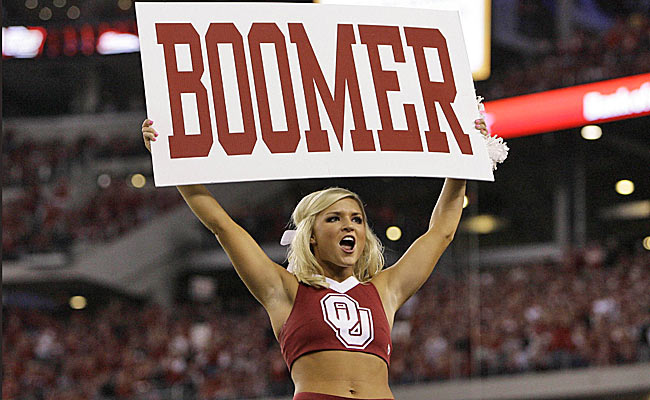 The Sooners may lower the 'boomer' on the college football landscape, if they ditch the Big 12. (AP)
