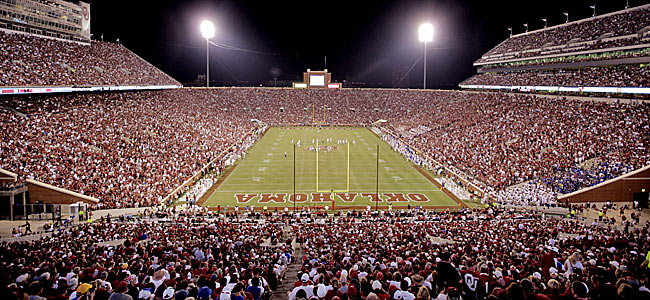 Oklahoma has the required tradition for the SEC,  but might shy away from the recruiting battle. (Getty Images)