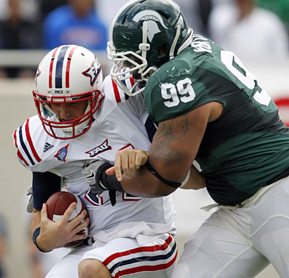 Michigan State DT Jerel Worthy on the Spartans' performance: 'I think today we played our best game.'  (AP)