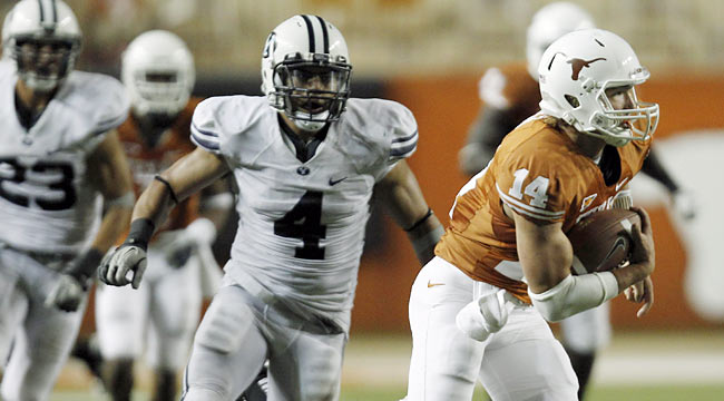 Good for Texas for escaping with a victory against BYU. Doyel doesn't like its chances against tougher teams. (AP)