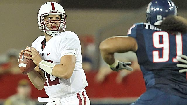 Luck, so far, has done nothing to dissuade NFL teams he's not the hands-down No. 1 pick. (Getty Images)