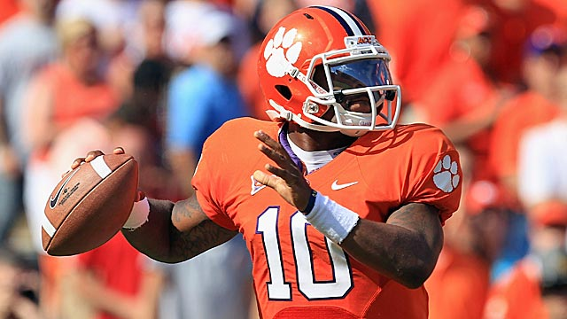 Tajh Boyd, a former Tennessee commit, has blossomed in Clemson's spread attack. (Getty Images)