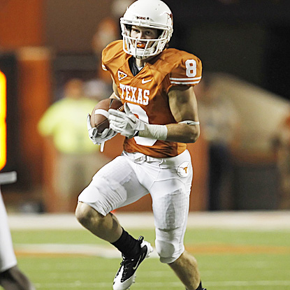 Jaxon Shipley has 141 yards receiving and a touchdown for the unbeaten Longhorns. (AP)